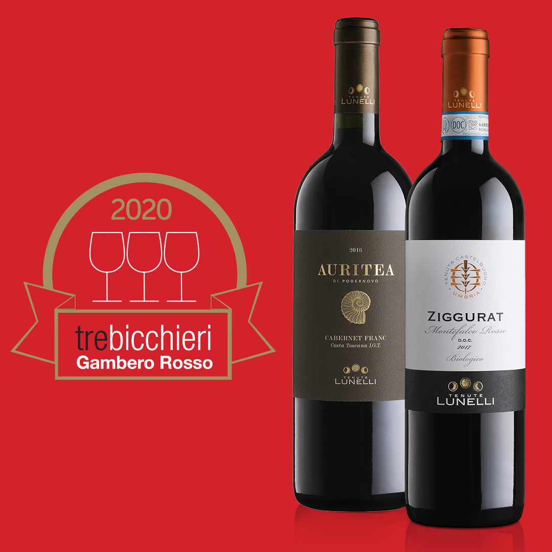 "Ziggurat 2017 e Auritea 2015 win ""Tre bicchieri"" ratings from Gambero Rosso"